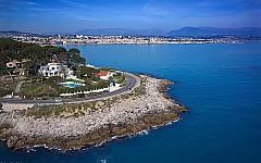 Villa for sale Cap d'Antibes, views from the Garoupe to Old Antibes.