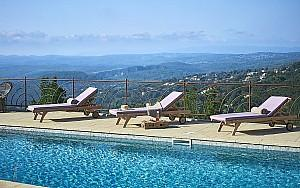 Luxury villa to rent with panoramic view St Paul de Vence